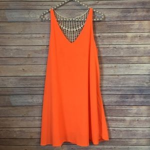 ILLA ILLA Neon Orange Dress Beach Cover Up, sz M